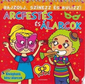 Rajzolj, szinezz es bulizz! - Arcfestes es alarcok / Deseneaza, coloreaza si petrece! - Vopsea pentru fata si masti