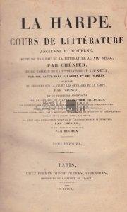 Cours de litterature ancienne et moderne / Curs de literatura veche si moderna
