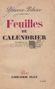 Feuilles de callendrier / Foi de calendar