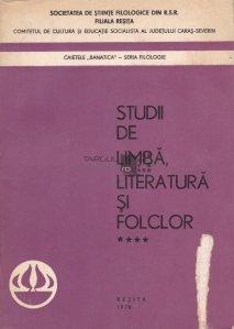 Studii de limba, literatura si folclor