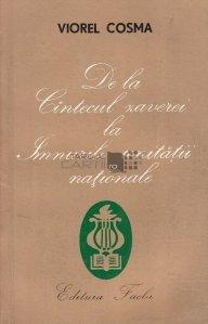 De la cantecul Zaverei la imnurile unitatii nationale