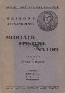 Meditatii, epistole, satire