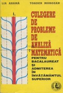 Culegere de probleme de analiza matematica