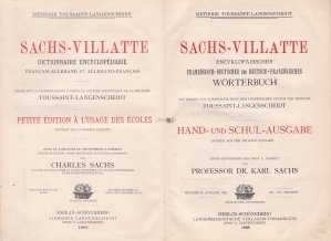 Sachs-Villate / Sachs-Villate: Dictionar enciclopedic francez-german si german-francez