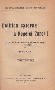 Politica externe a Regelui Carol I