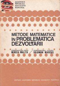 Metode matematice in problematica dezvoltarii