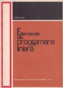 Elemente de programare liniara