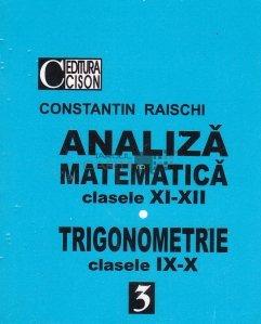 Analiza matematica. Trigonometrie