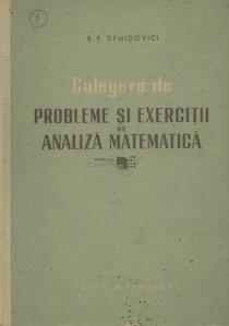 Culegere de probleme si exercitii de analiza matematica