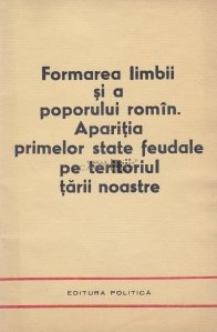Formarea limbii si a poporului romin