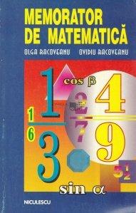 Memorator de matematica