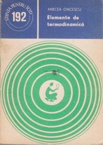 Elemente de termodinamica