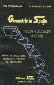 Geometrie in spatiu pentru gimnaziu si liceu