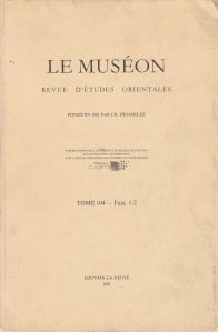 Le museon, tome 104 - Fasc. 1-2