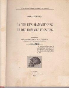 La vie des mammiferes et des hommes fossiles