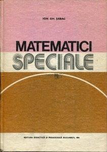 Matematici speciale