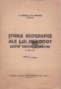 Stirile Geografice ale lui Herodot despre tinuturile noastre