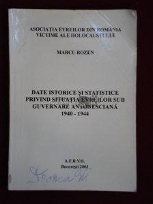 Date istorice si statistice privind situatia evreilor sub guvernare antonesciana 1940-1944