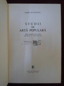 Studii de arta populara