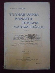 Transilvania, Banatul, Crisana si Maramurasul cu o harta etnografica