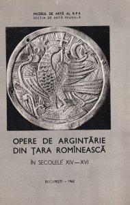 Opere de argintarie din tara romaneasca