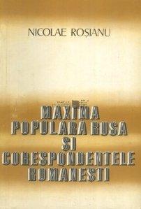 Maxima populara rusa si corespondentele romanesti