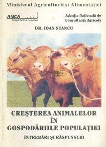 Cresterea animalelor in gospodariile populatiei