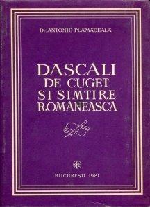 Dascali de cuget si simtire romaneasca