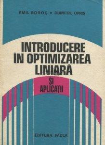 Introducere in optimizarea liniara si aplicatii