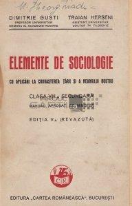 Elemente de sociologie cu aplicari la cunoasterea tarii si a neamului nostru