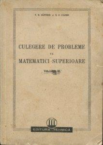 Culegere de probleme de matematici superioare