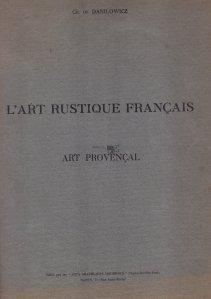 L'art rustique francais / Arta populara franceza
