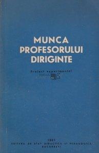 Munca profesorului diriginte