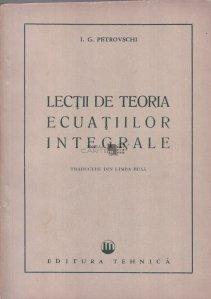 Lectii de teoria ecuatiilor integrale