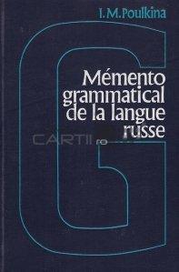 Memento grammatical de la langue russe