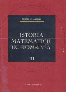 Istoria matematicii in Romania