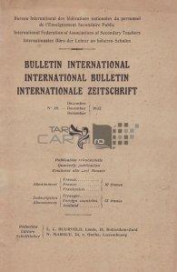 Bulletin international/International Bulletin/Internationale Zeitschrift