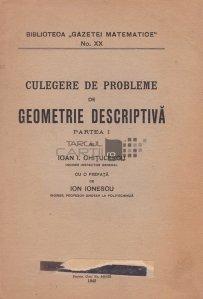 Culegere de probleme de geometrie descriptiva