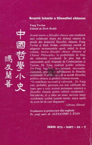Fung Yu-Lan - Scurta istorie a filosofiei chineze