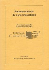 Representations du sens linguistique / Reprezentari ale sensului lingvistic