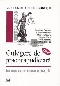 Culegere de practica judiciara in materie comerciala