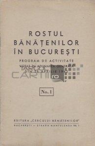 Rostul banatenilor in Bucuresti, nr. 1