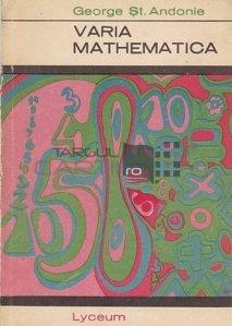 Varia Mathematica / Informatii diverse din domeniul matematicii
