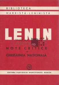 Note critice in chestiunea nationala