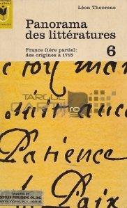 Panorama des litteratures / Panorama literaturii. Franta (prima parte): de la origini pana in 1715