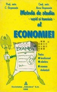 Metoda de studiu - rapid si temeinic - al economiei