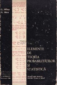 Elemente de teoria probabilitatilor si statistica