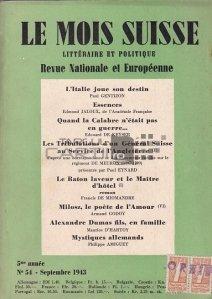 Le mois suissem nr. 51/Septembre 1943 / Luna elvețiană