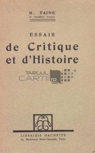 Essais de Critique et d'Histoire / Eseuri de critica si istorie