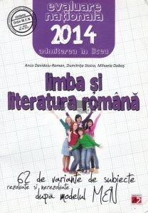 Limba is literatura romana: Evaluarea Nationala 2014